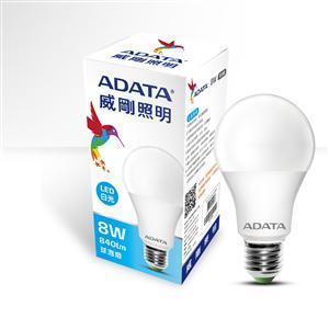 威剛照明 8W LED 球泡燈/白光