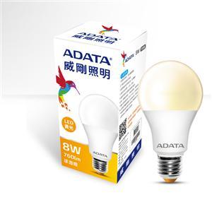 威剛照明 8W LED 球泡燈/黃光
