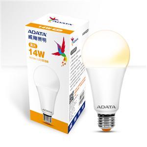 威剛照明 14W高效能 LED 球泡燈-黃光