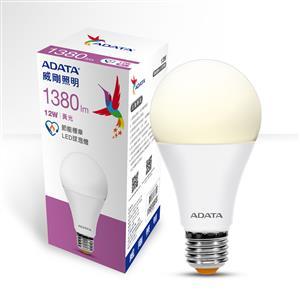 威剛照明 12W 節能標章LED球泡燈-黃光