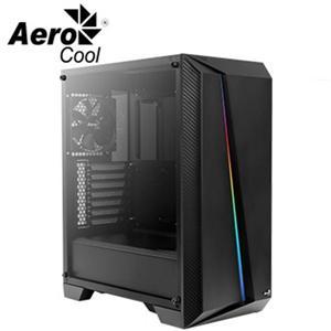 愛樂酷Aerocool賽隆Pro -黑色 U3透側A‧RGB電腦機殼
