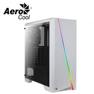 愛樂酷 Aerocool 賽隆-白色 U3透側A‧RGB電腦機殼-含讀卡機