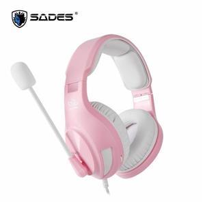 賽德斯 SADES A2 (粉白色)商用耳機麥克風