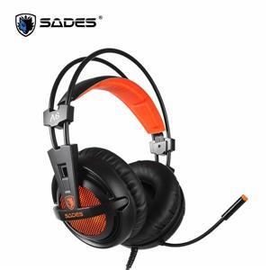 賽德斯SADES A6 (橘黑色) 7 . 1 (USB) 電競耳機麥克風