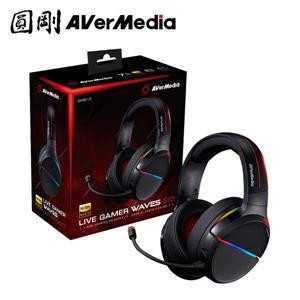 圓剛 GH510黑7 . 1環繞音效電競耳機Live Gamer WAVES