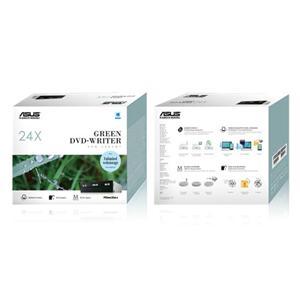 華碩 ASUS DRW - 24D5MT內接式 24X DVD燒錄機 (黑)