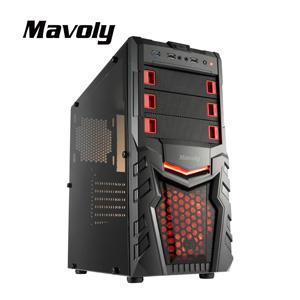 Mavoly 松聖 柳橙-黑 一大 USB3 . 0 黑化機殼