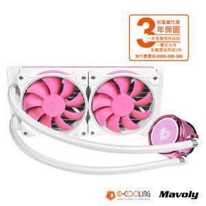 ID COOLING PINKFLOW 240 A . RGB 粉色 CPU一體式水冷散熱器