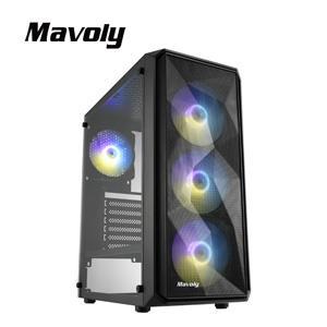 Mavoly 松聖 黑加侖-黑 一大 USB3 . 0 黑化機殼