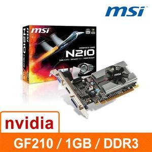 微星MSI N210 - MD1G / D3 顯示卡