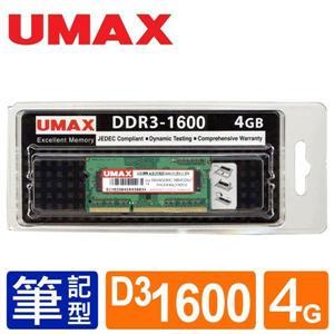 UMAX NB - DDRIII 1600 4GB(512 * 8) / 1 . 35V 筆記型RAM