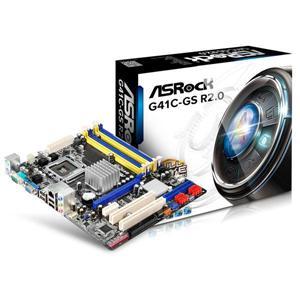華擎 G41C - GS R2 . 0 INTEL G41 + CH7 LGA775 M - ATX 主機板