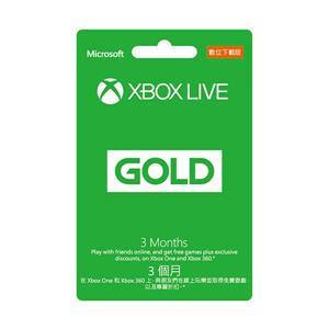 微軟XBOX LIVE 3個月金會員 數位下載版