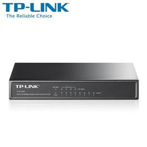 TP - LINK TL - SF1008P 8 埠 10 / 100M 桌上型 PoE 交換器