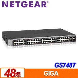 NETGEAR GS748T 48埠 Giga智能網管交換器