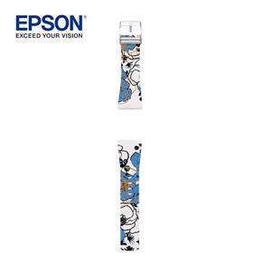 EPSON Flower Blue Band SS 輕描牡丹錶帶