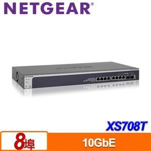 NETGEAR XS708T 8埠10G智能網管型交換器