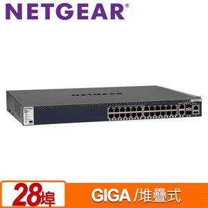 NETGEAR M4300 - 28G(GSM4328S) 28埠Giga 堆疊式全網管交換器
