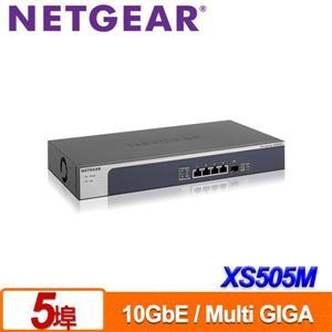 NETGEAR XS505M 5埠10Gb無網管Multi - Giga交換器