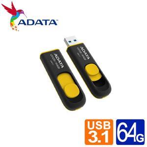 威剛 UV128 64G USB3 . 2行動碟 (黃)