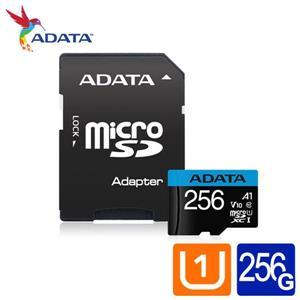 威剛 Premier microSDXC UHS - I (A1) 256G記憶卡(附轉卡)