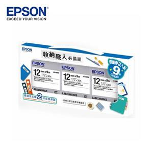 EPSON 7111112 收納職人必備組(LK - 4WBN * 3)