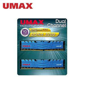 UMAX D4 3200 / 16G (8G * 2)雙通道RAM(含散熱片)