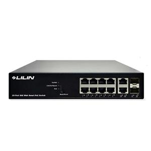 LILIN 利凌 PS3108C 8埠Web Smart GbE PoE +乙太網路供電交換器