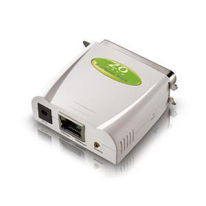 ZO TECH P101S 平行埠印表伺服器(綠色)