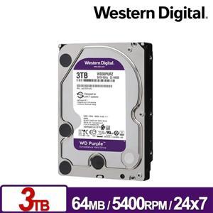 WD30PURZ 紫標 3TB 3 . 5吋監控系統硬碟
