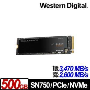 WD 黑標 SN750 500GB M . 2 2280 PCIe SSD