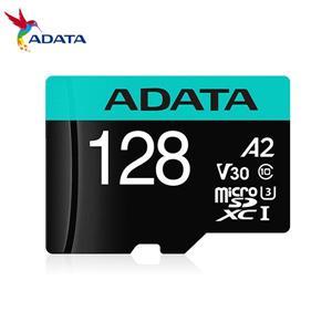 威剛 Premier Pro microSDXC UHS - I U3 A2 V30 128G記憶卡(附轉卡)