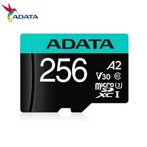 威剛 Premier Pro microSDXC UHS - I U3 A2 V30 256G記憶卡(附轉卡)