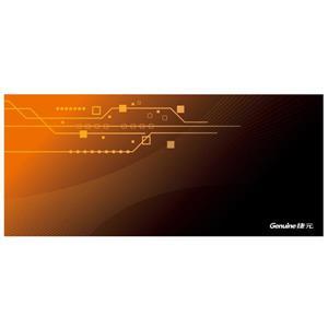 Genuine捷元電競滑鼠墊橫幅加長版(數位橘)