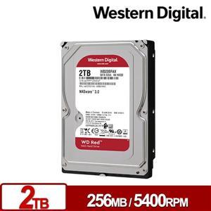 WD20EFAX 紅標 2TB 3 . 5吋NAS硬碟(NASware3 . 0)
