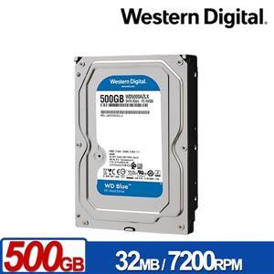 WD5000AZLX 藍標 500GB 3 . 5吋SATA硬碟/ 3y