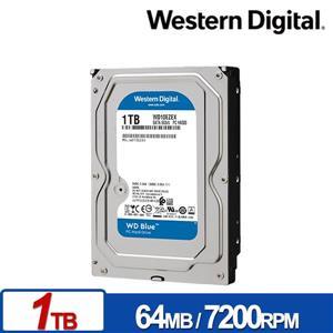 WD10EZEX 藍標 1TB 3 . 5吋SATA硬碟/ 3y