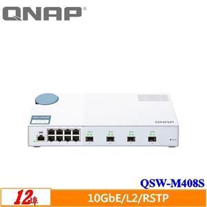 QNAP QSW - M408S 12埠L2 Web管理型10GbE交換器