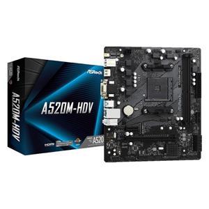 華擎 ASRock A520M HDV AMD AM4 M - ATX 主機板