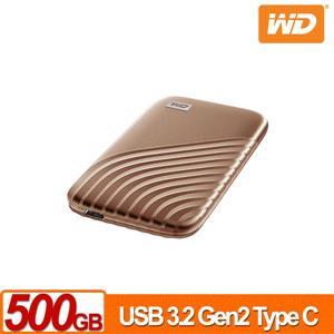 WD My Passport SSD 500GB(金) 外接式SSD(2020)