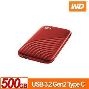 WD My Passport SSD 500GB(紅) 外接式SSD(2020)