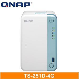 QNAP TS - 251D - 4G 網路儲存伺服器