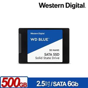 WD 藍標 500GB 2 . 5吋SATA SSD