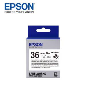 EPSON LK - 7WBVS C53S657412 標籤帶(線材36mm )黑字