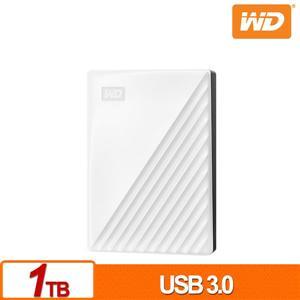 WD My Passport 1TB(白) 2 . 5吋行動硬碟(2019)