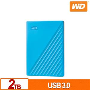 WD My Passport 2TB(藍) 2 . 5吋行動硬碟(2019)