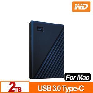 WD My Passport for Mac 2TB 2 . 5吋USB - C行動硬碟(2019)