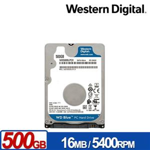 WD5000LPCX 藍標 500GB(7mm) 2 . 5吋硬碟/ 3Y