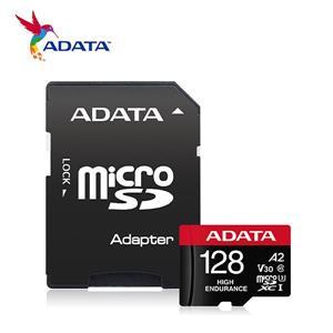 威剛 High Endurance microSDXC UHS - I U3 A2 V30 128G高耐用記憶卡(附轉卡)