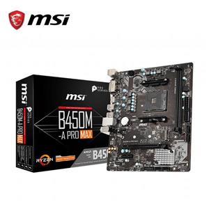 微星MSI B450M - A PRO MAX AM4 AMD主機板